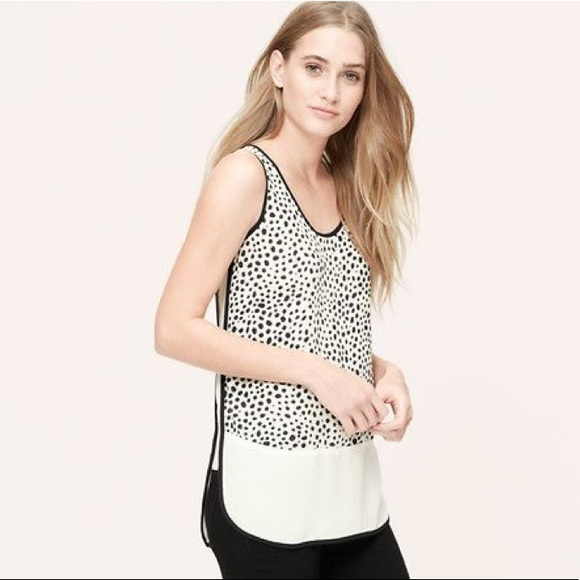 262a58deb35921 LOFT Tops - LOFT Animal Spot Shell